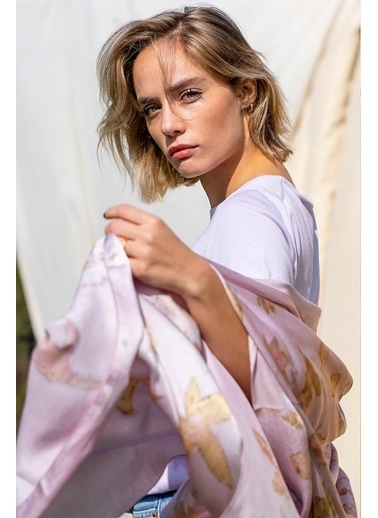 Silk and Cashmere Şal Pembe